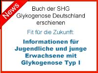 Buch der SHG Glykogenose Deutschland erschienen. Fit für die Zukunft: Informationen für Jugendliche und junge Erwachsene mit Glykogenose Typ I