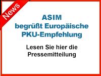 ASIM begrüßt Europäische PKU-Empfehlung. Pressemitteilung