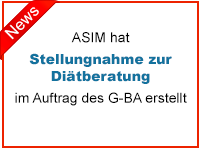 ASIM hat Stellungnahme zur Diätberatung im Auftrag des G-BA erstellt